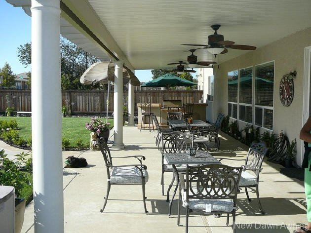 Solid Flat Patio Covers 13