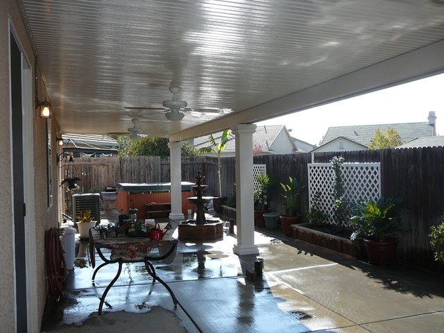 Solid Flat Patio Covers 1