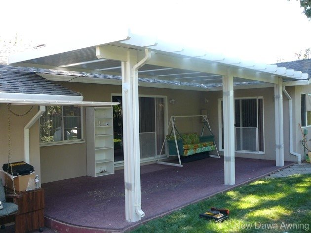 Solid Flat Patio Covers 10